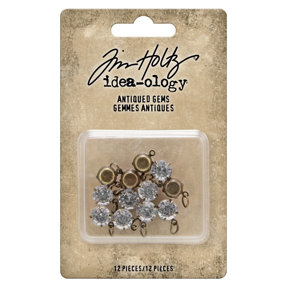Tim Holtz Idea-ology ANTIQUED GEMS Embellishments th94033 zoom image