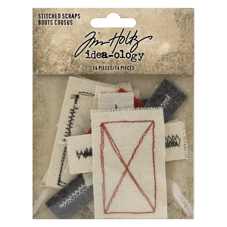 Tim Holtz Idea-ology STITCHED SCRAPS Embellishments th94035 zoom image