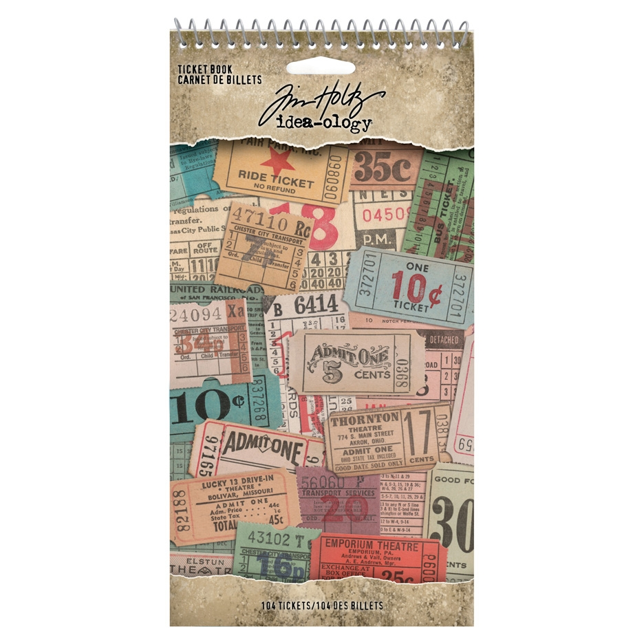 Tim Holtz Idea-ology TICKET BOOK th94036 zoom image