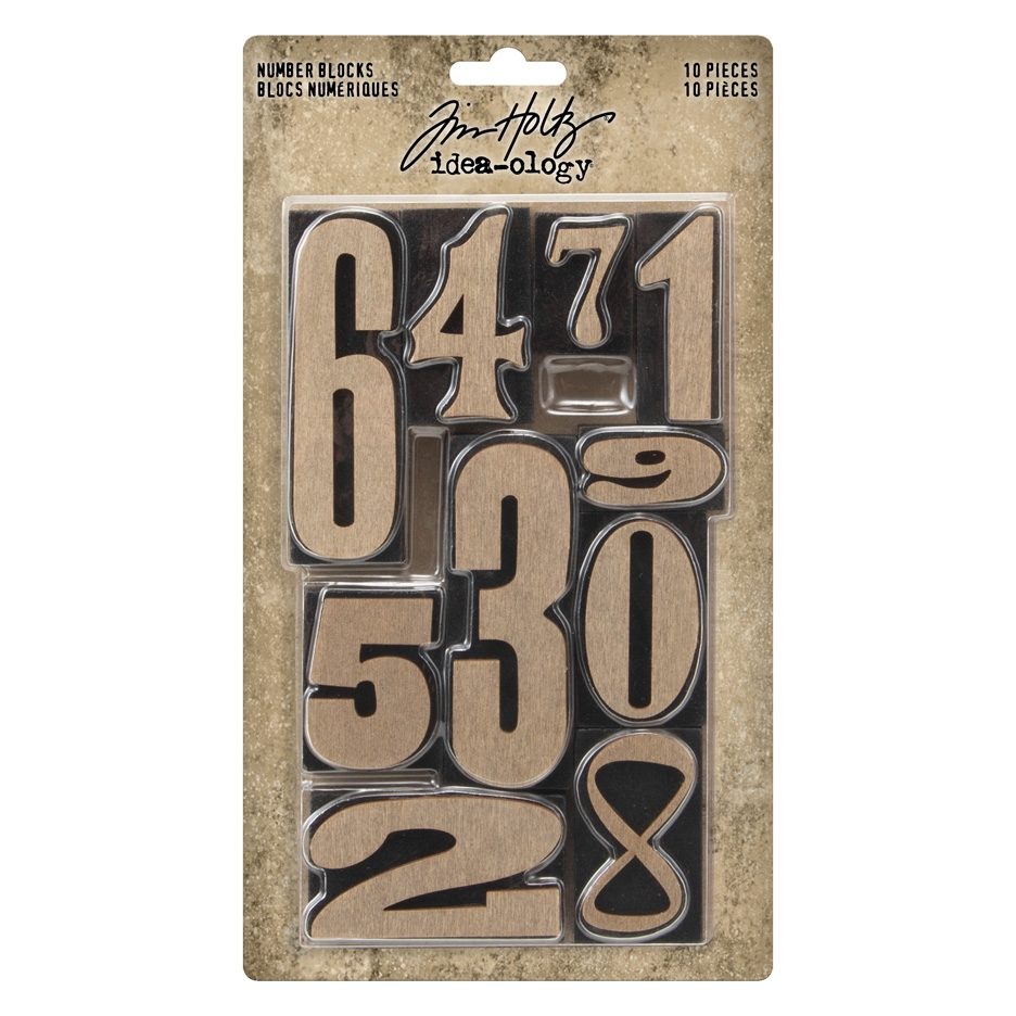 Tim Holtz Idea-ology NUMBER BLOCKS Findings th94037 zoom image