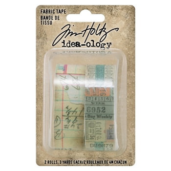 Tim Holtz Idea-ology FABRIC TAPE Embellishments th94041