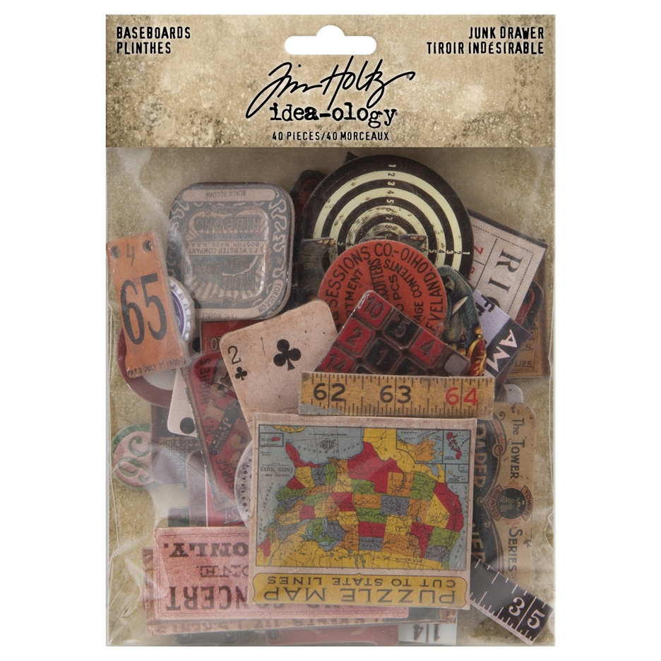 Tim Holtz Idea-ology JUNK DRAWER BASEBOARDS th94044 zoom image