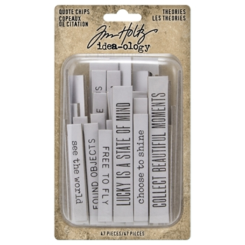 RESERVE Tim Holtz Idea-ology THEORIES Quote Chips th94045