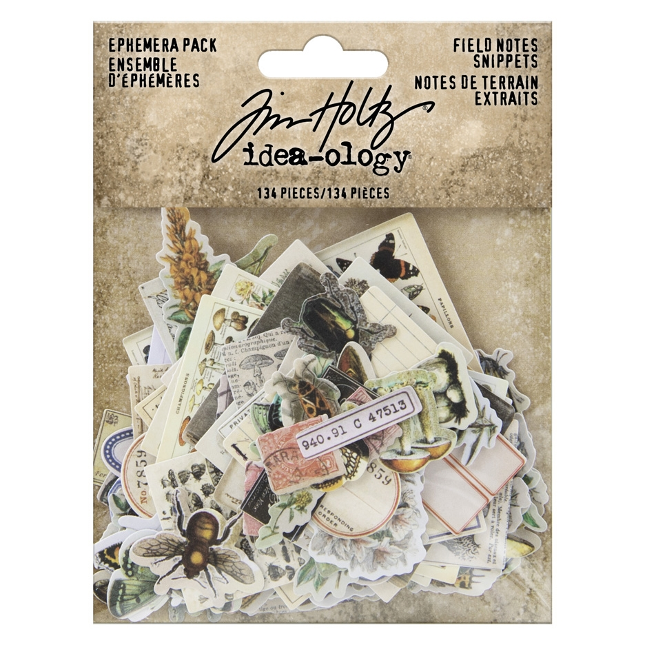 Tim Holtz Idea-ology FIELD NOTES SNIPPETS Ephemera th94049 zoom image