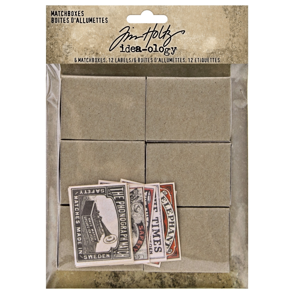 Tim Holtz Idea-ology MATCHBOXES th94050 zoom image