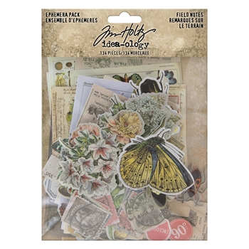 RESERVE Tim Holtz Idea-ology Ephemera Pack FIELD NOTES th94051