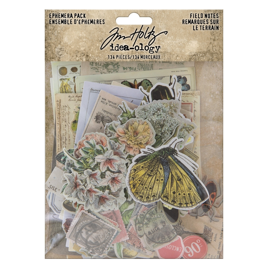 Tim Holtz Idea-ology Ephemera Pack FIELD NOTES th94051 zoom image