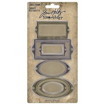 RESERVE Tim Holtz Idea-ology LABEL FRAMES th94052