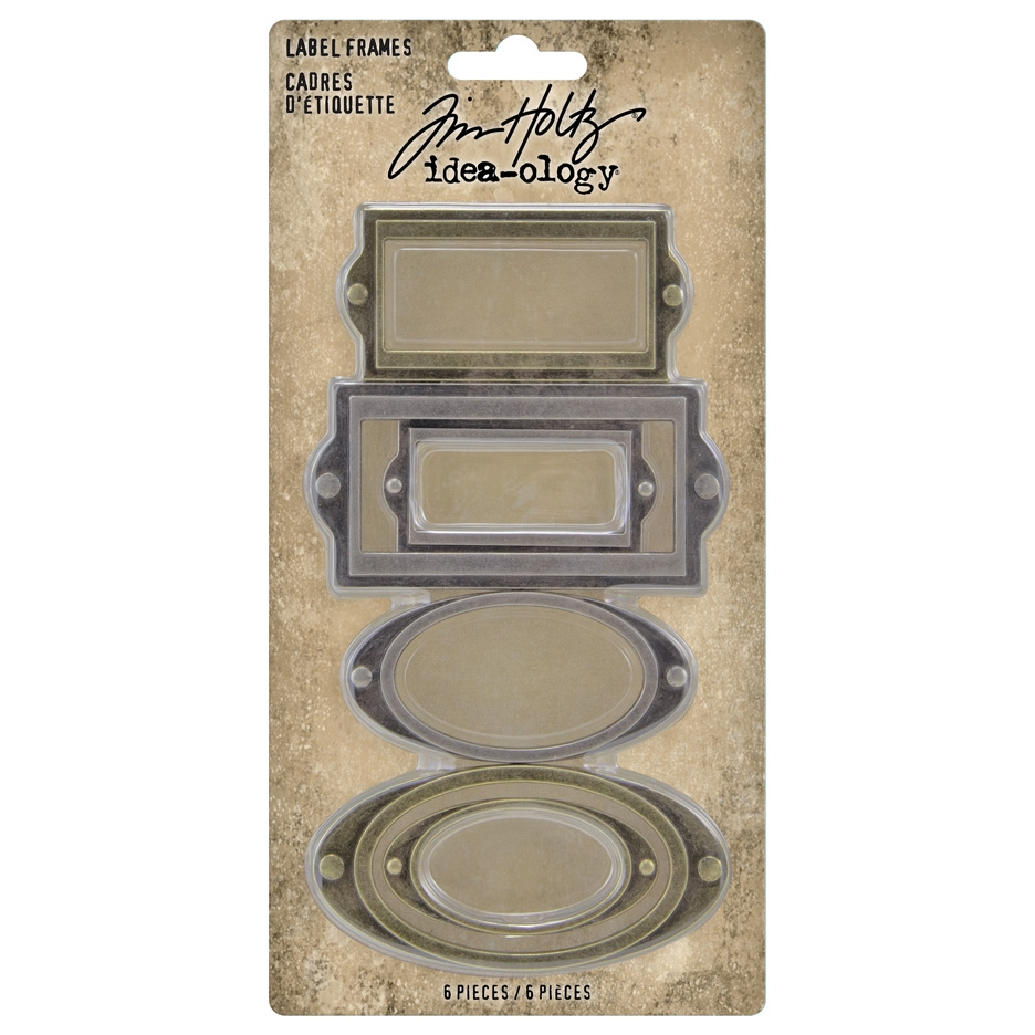 Tim Holtz Idea-ology LABEL FRAMES th94052 zoom image