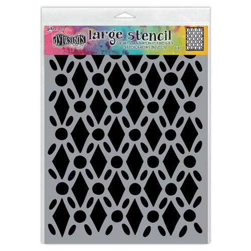 Dyan Reaveley Stencil 9 x 12 FANCY FLOOR Dylusions Ranger dys71501 Preview Image