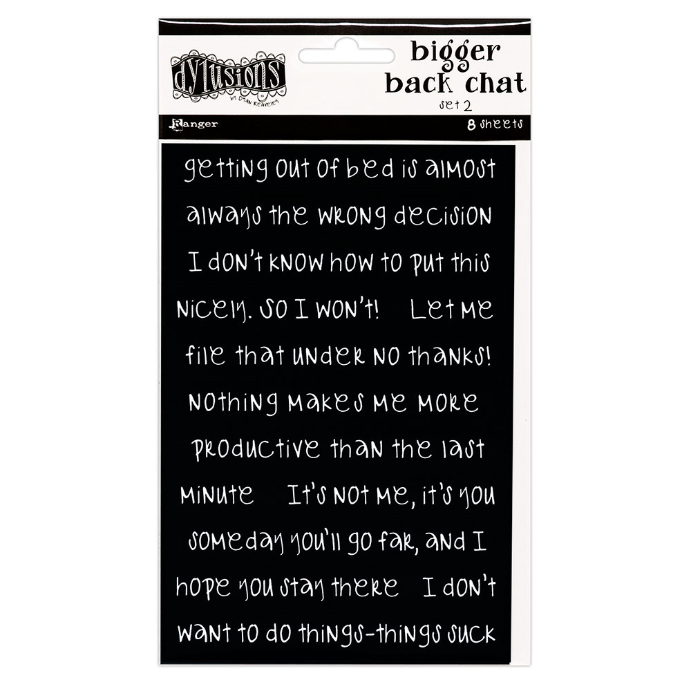 Ranger Dylusions BLACK BIGGER BACK CHAT STICKERS 2 Dyan Reaveley dya68792 zoom image