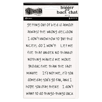 Ranger Dylusions WHITE BIGGER BACK CHAT STICKERS 2 Dyan Reaveley dya68808