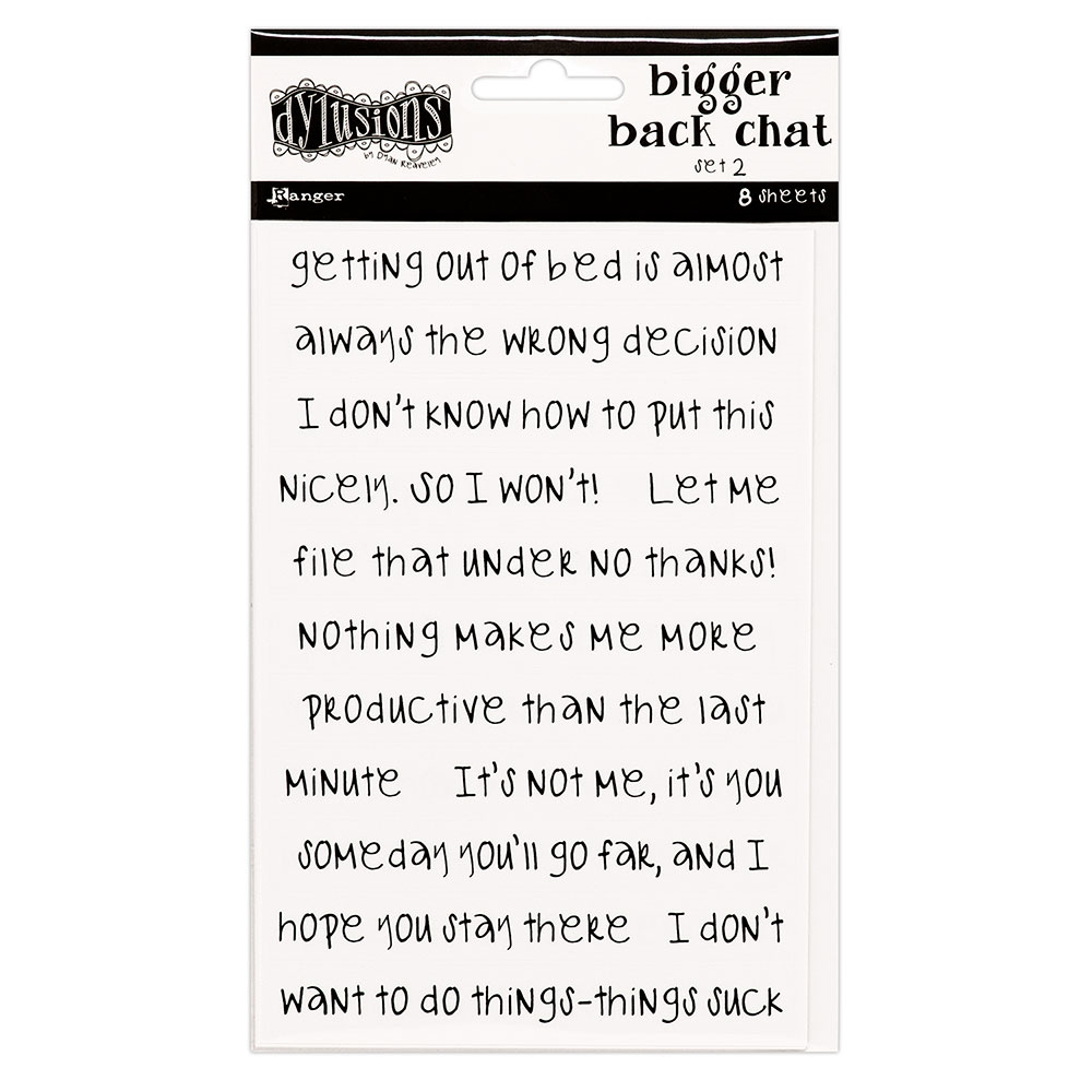 RESERVE Ranger Dylusions WHITE BIGGER BACK CHAT STICKERS 2 Dyan Reaveley dya68808 zoom image