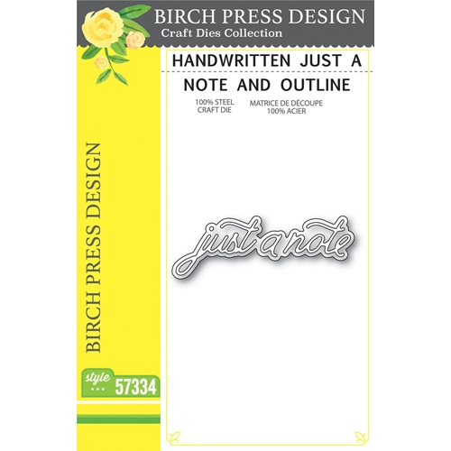 Birch Press Design HANDWRITTEN JUST A NOTE AND OUTLINE Craft Dies 57334 Preview Image