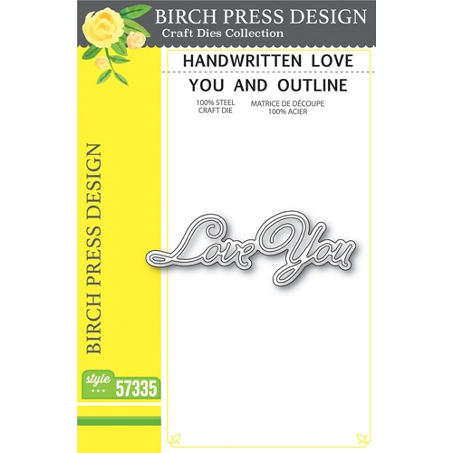 Birch Press Design HANDWRITTEN LOVE YOU AND OUTLINE Craft Dies 57335 Preview Image
