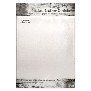Tim Holtz 8.5 X 11 DISTRESS CRACKED LEATHER CARDSTOCK Ranger tda71280
