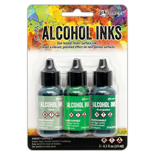 Tim Holtz Alcohol Ink Set MINT AND GREEN SPECTRUM 3 Pack Ranger tak69652 Preview Image