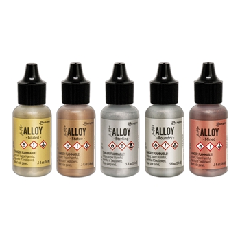 Tim Holtz ALCOHOL INK ALLOY SET OF 5 Ranger ranger128