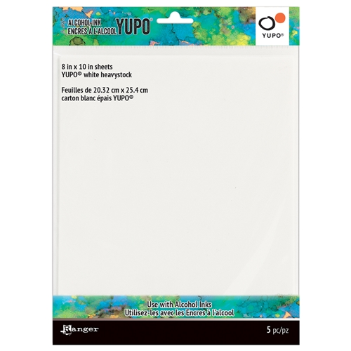RESERVE Tim Holtz 8 X 10 WHITE HEAVYSTOCK ALCOHOL INK YUPO PAPER Ranger tac69744 Preview Image