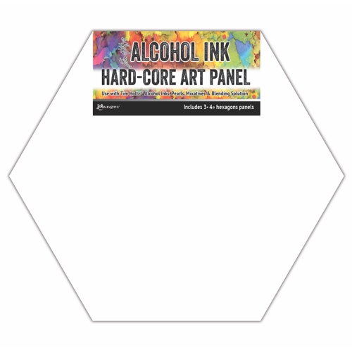 Tim Holtz Alcohol Ink Hard Core Art Panels 4 INCH HEXAGONS Ranger tac69737 Preview Image