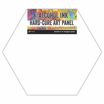 Tim Holtz Alcohol Ink Hard Core Art Panels 4 INCH HEXAGONS Ranger tac69737