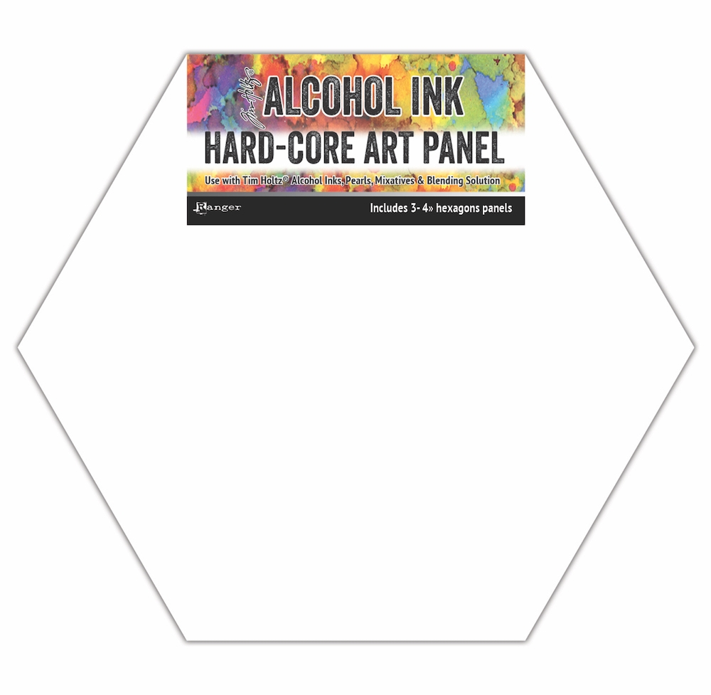 Tim Holtz Alcohol Ink Hard Core Art Panels 4 INCH HEXAGONS Ranger tac69737 zoom image