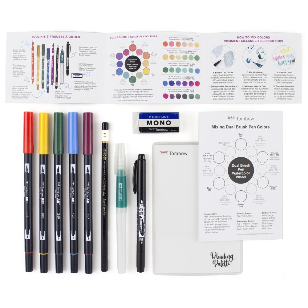 Tombow WATERCOLOR SET Dual Brush Pen Markers 56198 zoom image