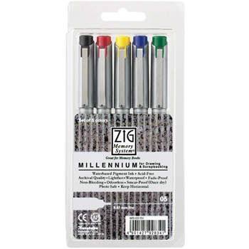 Zig ASSORTED COLORS Millenium Point Pens MS055V