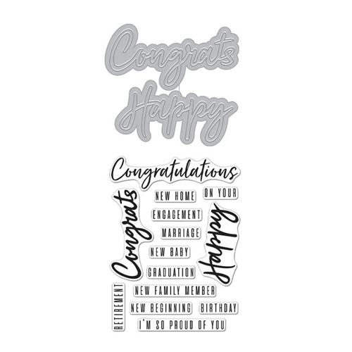 Hero Arts Stamp and Cuts CONGRATS HAPPY Set DC274 Preview Image
