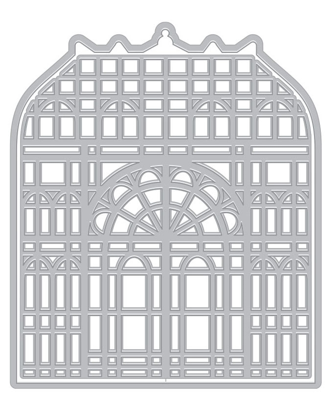 Hero Arts Fancy Dies VICTORIAN GREENHOUSE WITH FRAME DI715 zoom image