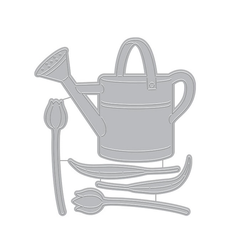 Hero Arts Fancy Dies WATERING CAN AND FLOWERS DI714 Preview Image