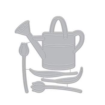 Hero Arts Fancy Dies WATERING CAN AND FLOWERS DI714