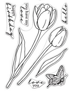 Hero Arts Clear Stamps FLORALS TULIPS CM420
