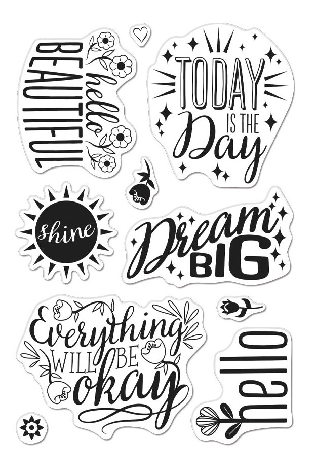 Hero Arts Clear Stamps AFFIRMATION MESSAGES CM413 zoom image