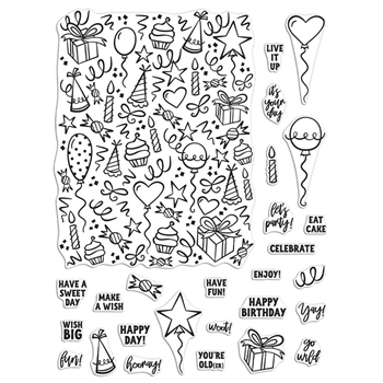 Hero Arts Clear Stamps WISH BIG PEEK A BOO PARTS CM418