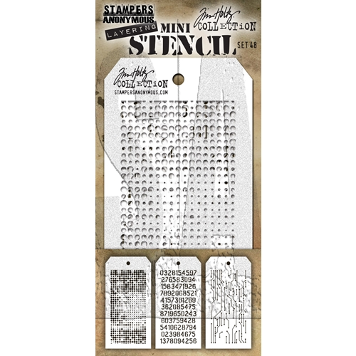 Tim Holtz MINI STENCIL SET 48 MST048 Preview Image