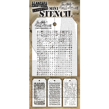 RESERVE Tim Holtz MINI STENCIL SET 48 MST048