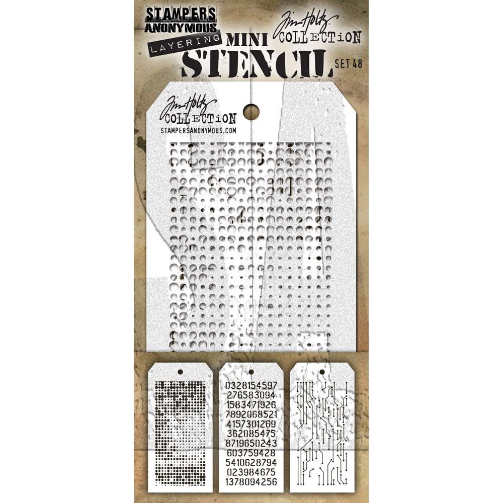 Tim Holtz MINI STENCIL SET 48 MST048 zoom image