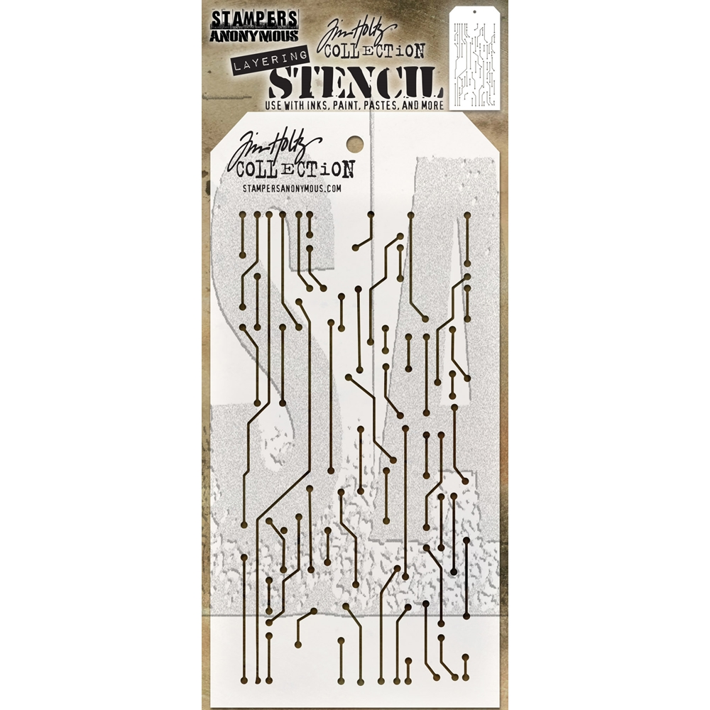 Tim Holtz Layering Stencil CIRCUIT THS146 zoom image