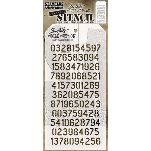 Tim Holtz Layering Stencil DIGITS THS145 Preview Image