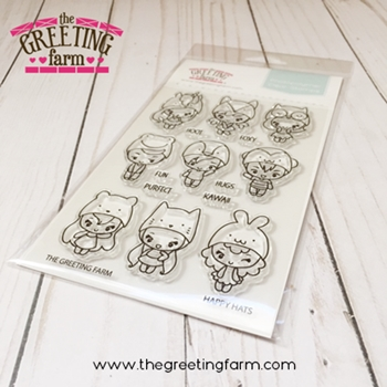 The Greeting Farm HAPPY HATS Clear Stamps TGF528