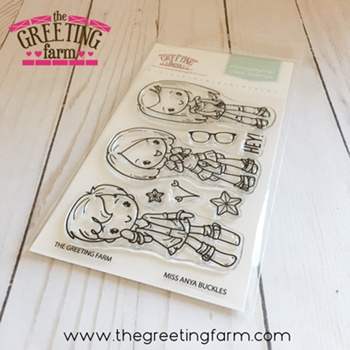 The Greeting Farm MISS ANYA BUCKLES Clear Stamps TGF531