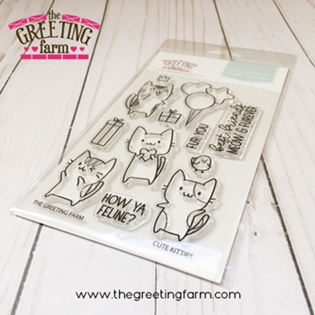 The Greeting Farm CUTE KITTIES Clear Stamps TGF520