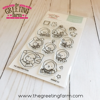 The Greeting Farm MINKIE 3 Clear Stamps TGF534