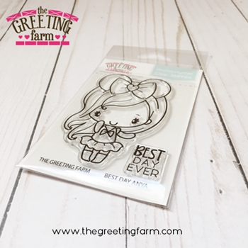 The Greeting Farm BEST DAY ANYA Clear Stamps TGF523