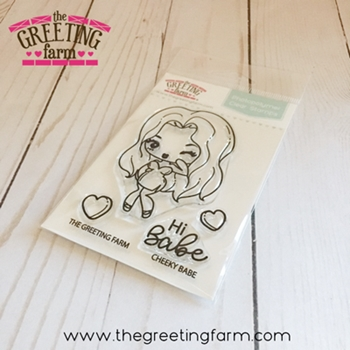 The Greeting Farm CHEEKY BABE Clear Stamps TGF533