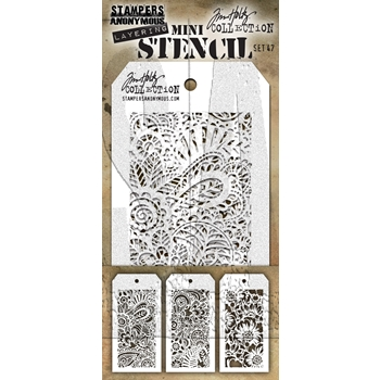 Tim Holtz MINI STENCIL SET 47 MST047