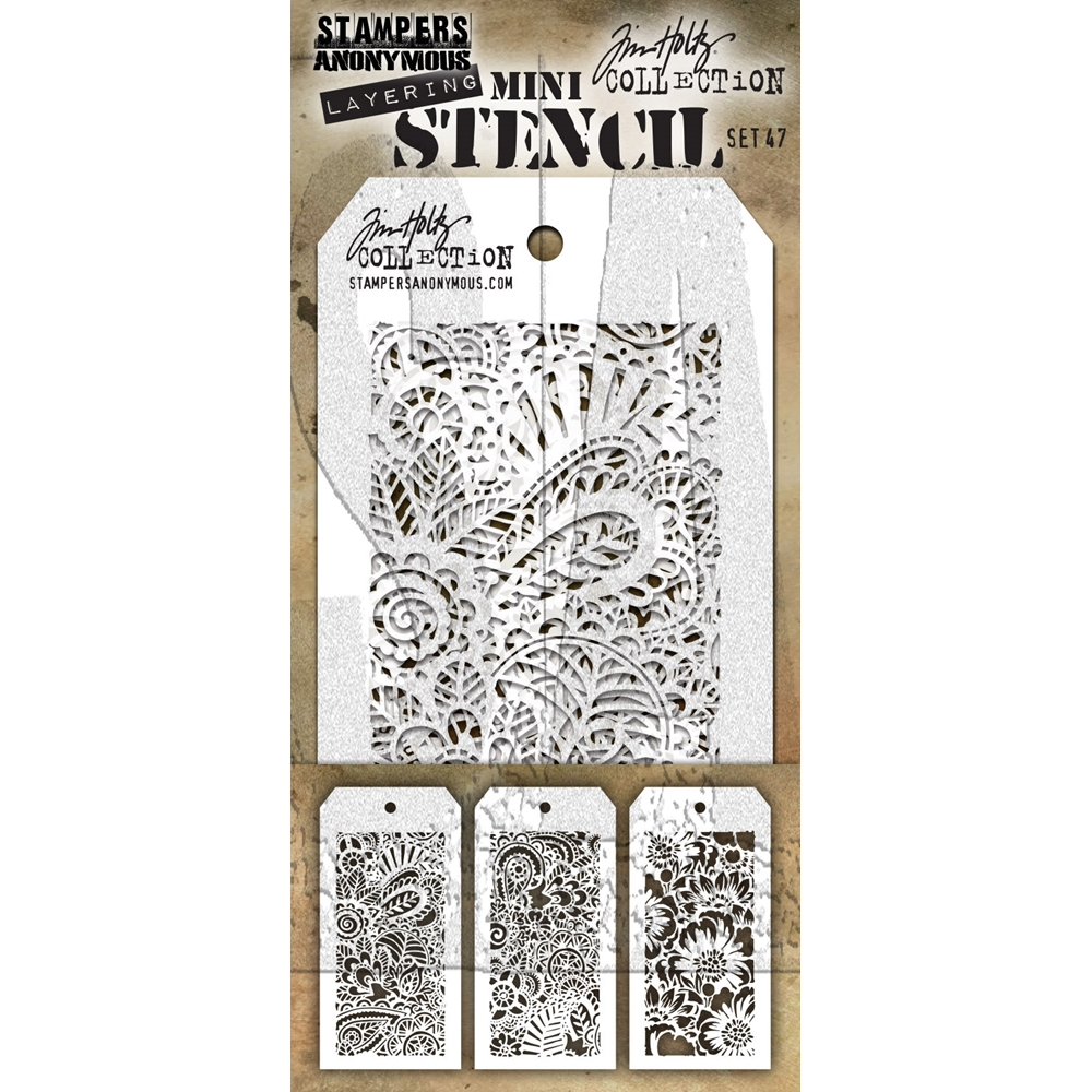 Tim Holtz MINI STENCIL SET 47 MST047 zoom image