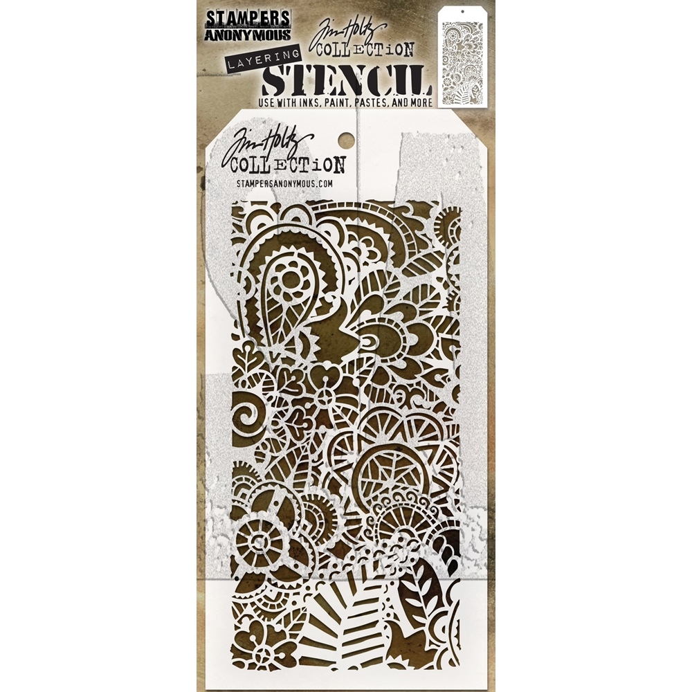 Tim Holtz Layering Stencil DOODLE ART 2 THS142 zoom image