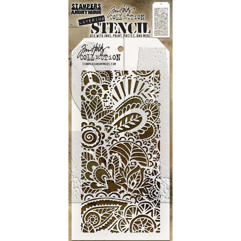 Tim Holtz Layering Stencil DOODLE ART 1 THS141 zoom image
